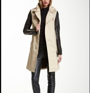 Mackage Avra leather sleeve trench